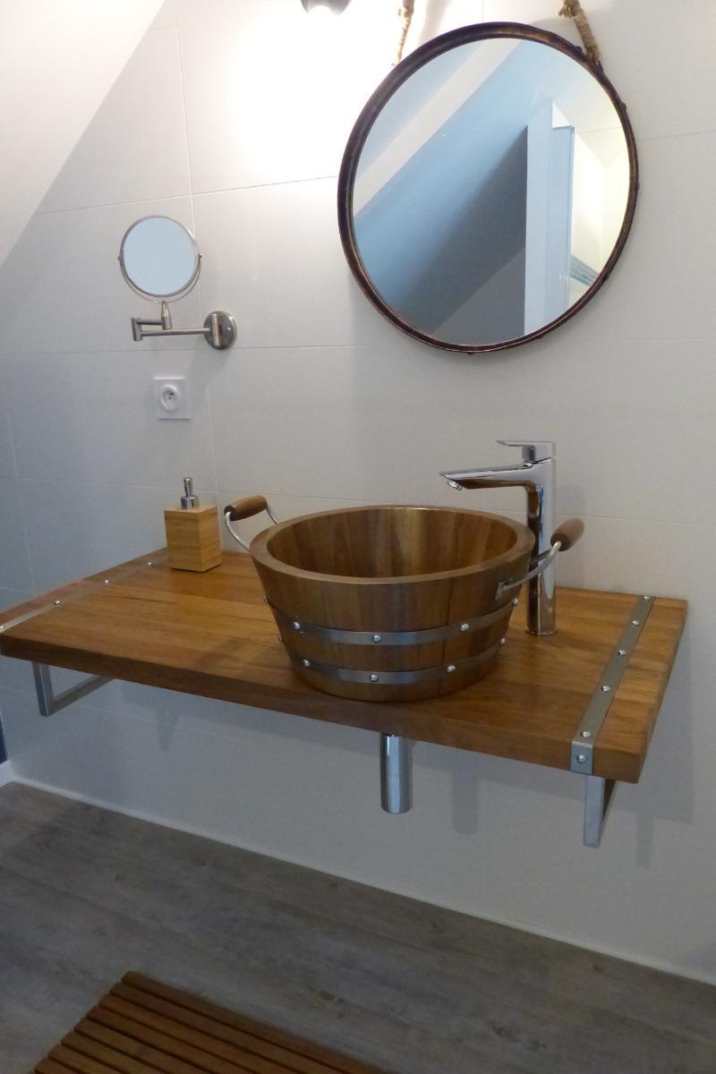 Salle de bain theme marin cool salle de bain sur le theme marin salle de bain theme mer with - Decor marin pour salle de bain ...