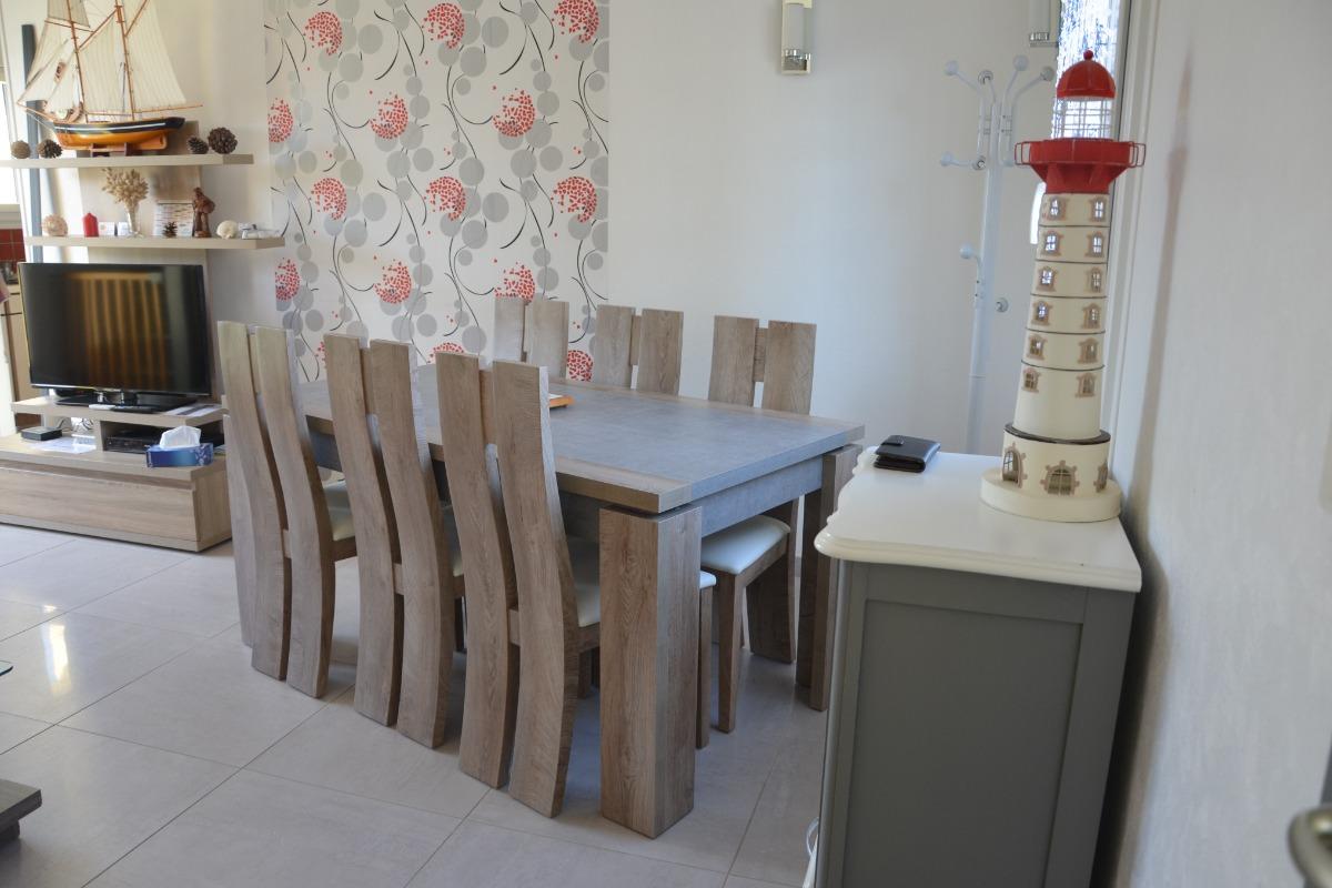pièce de vie côté salle à manger - Location de vacances - Gâvres