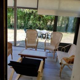 Véranda coin salon - Location de vacances - Pénestin