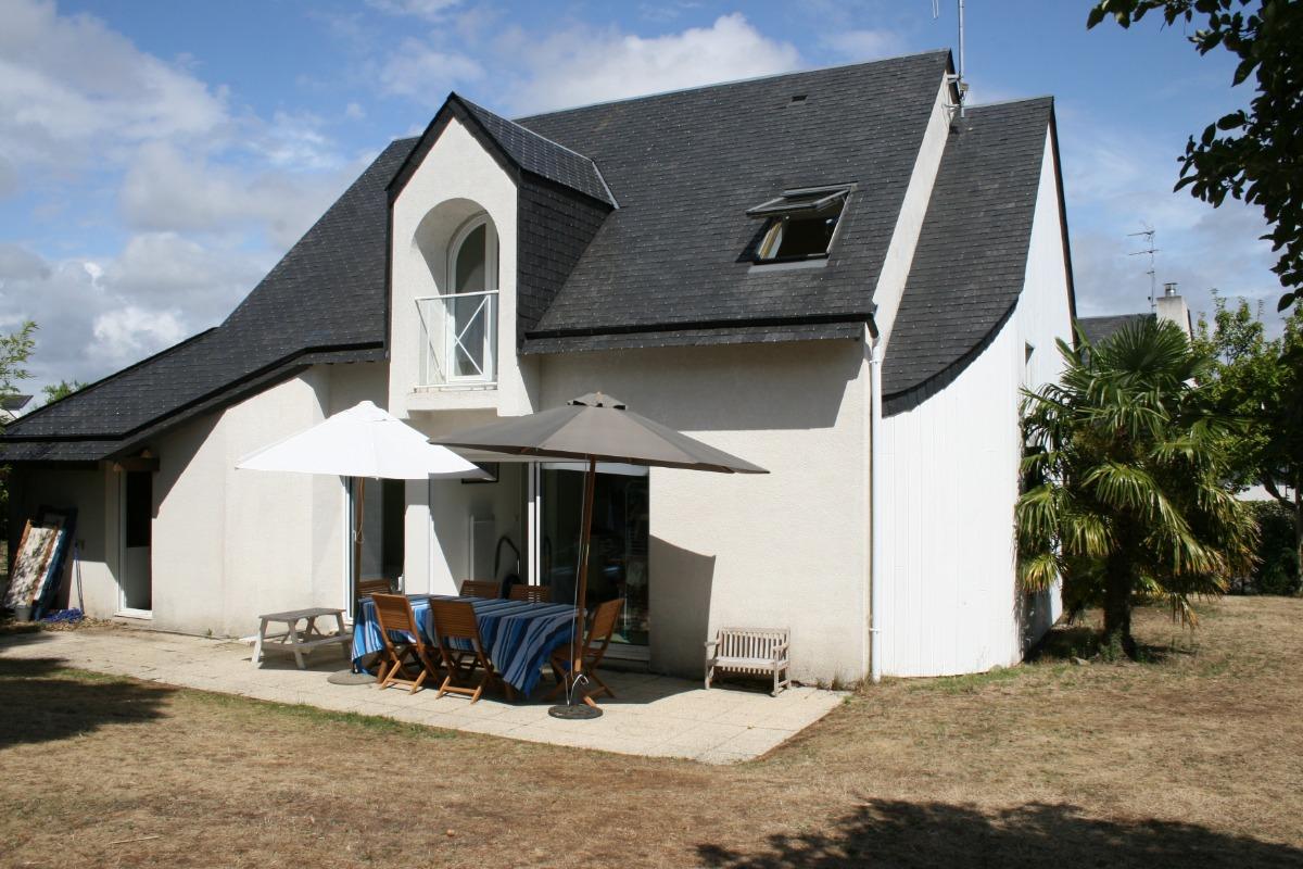 salon, chambre parentale, terrasse, orientés ouest - Location de vacances - Saint-Philibert