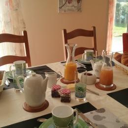 petit déjeuner dans séjour - Chambre d'hôtes - Plouharnel