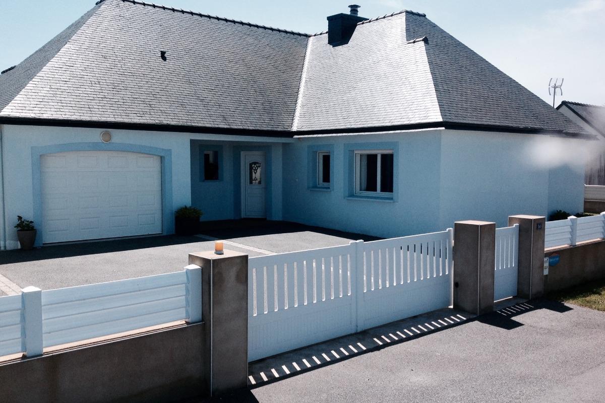FACADE  MAISON COTE RUE - Location de vacances - Erdeven