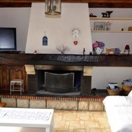 Salon cheminée - Location de vacances - Pénestin