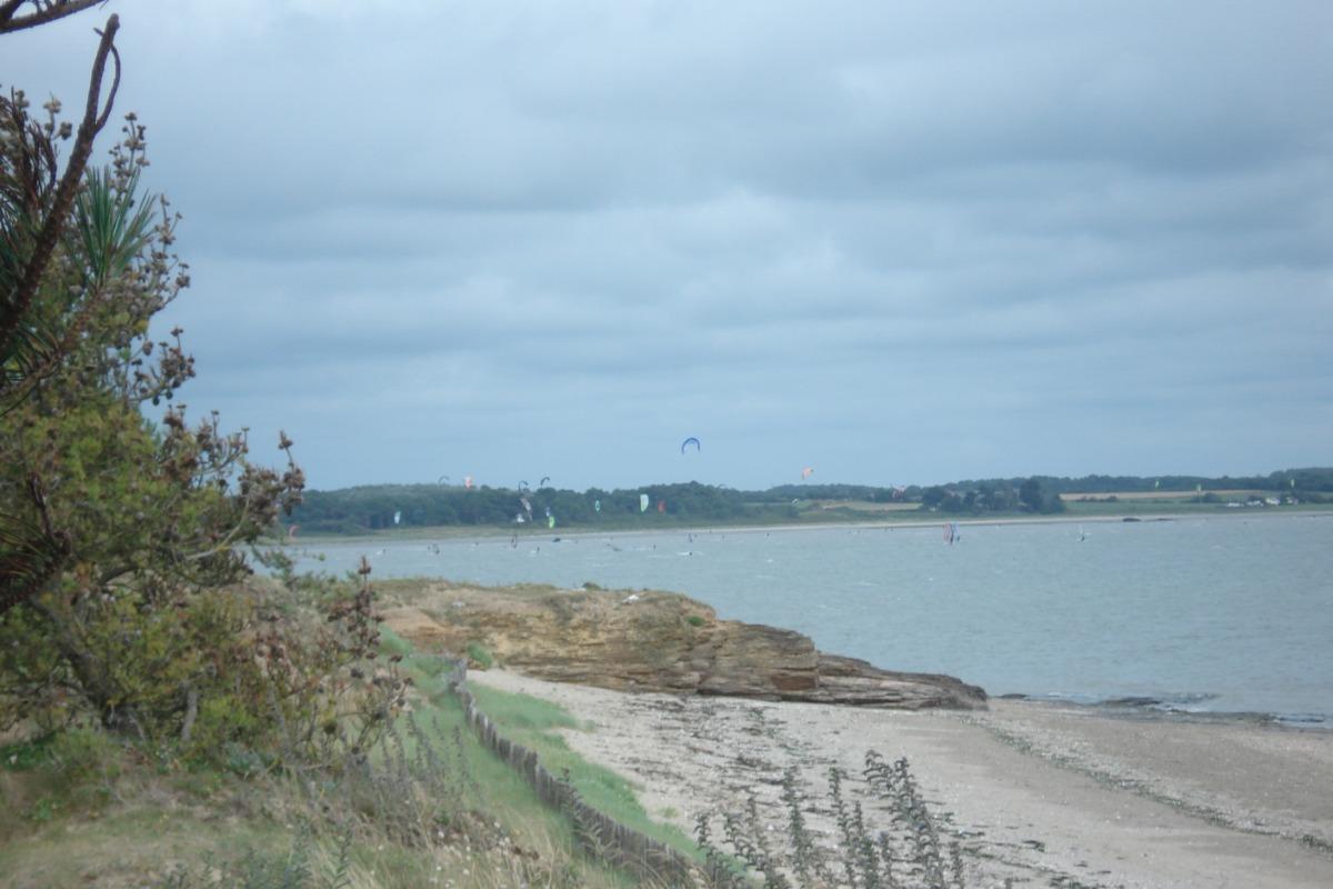 Baie de Pont Mahé, le spot de kite-surf, - Location de vacances - Pénestin