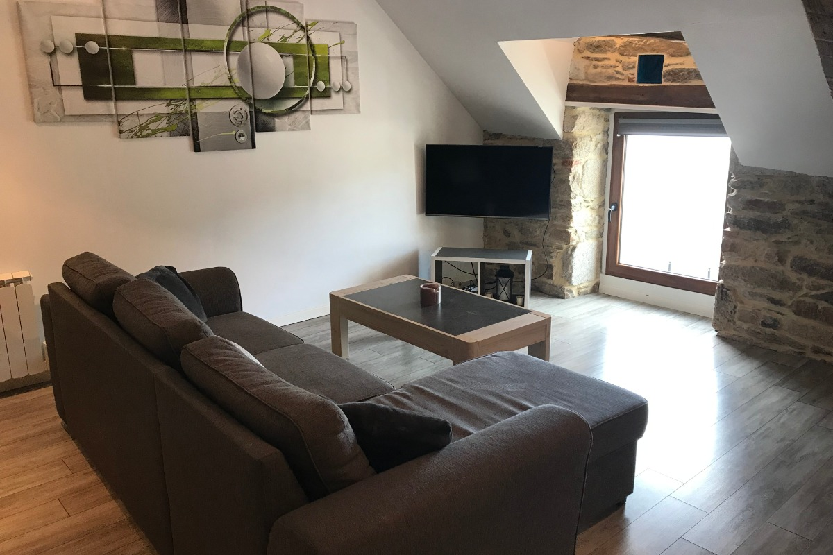 le salon avec vue sur la vilaine - Location de vacances - La Roche-Bernard