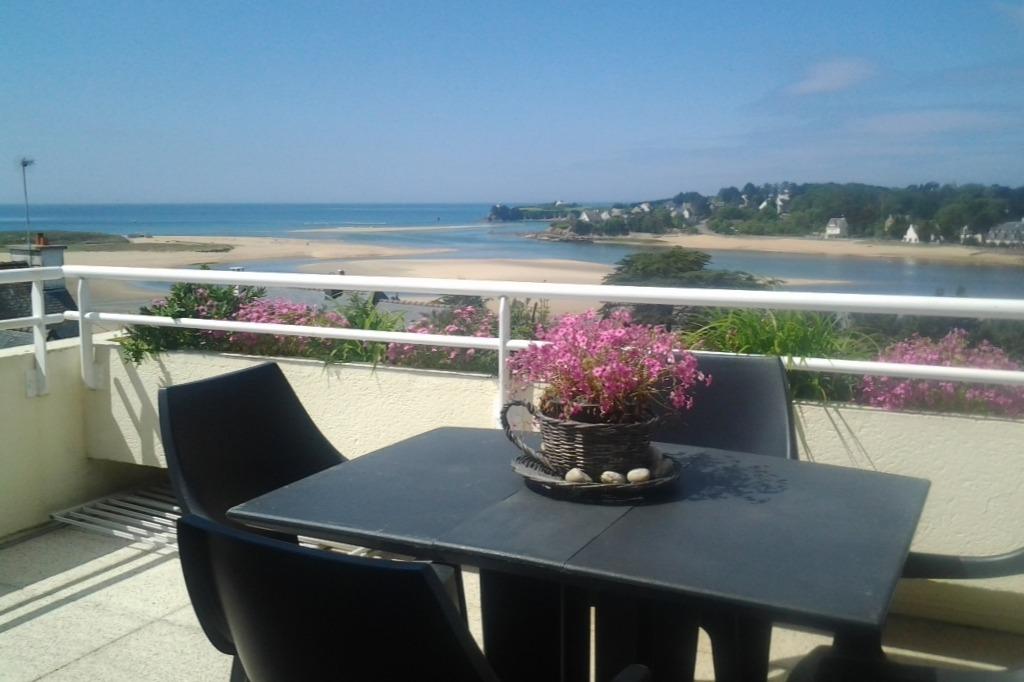 vue de la terrasse - Location de vacances - Guidel