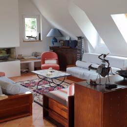 salon séjour - Location de vacances - Locmariaquer