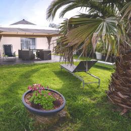 Chambre avec une literie 140 de qualité  - Location de vacances - Landévant