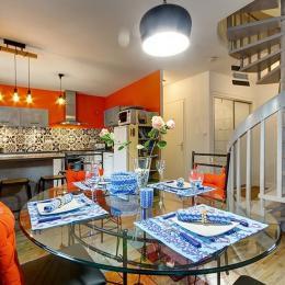 Une cuisine ouverte pour plus de convivialité - Location de vacances - Saint-Philibert