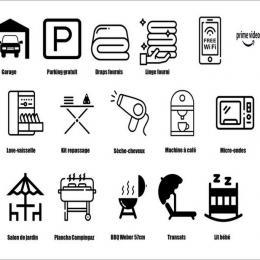Une SDB avec une grande baignoire et de nombreux rangements - Location de vacances - Saint-Philibert