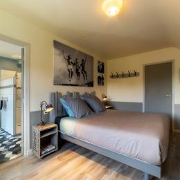 chambre avec lit 160x200 - Location de vacances - Carnac