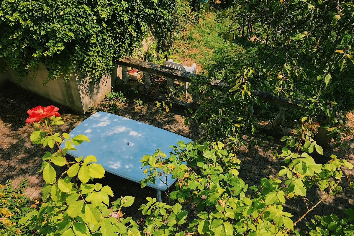 Vue du balcon - Location de vacances - Luttange