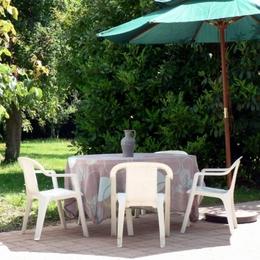 La terrasse et le jardin - Location de vacances - La Chapelle-Saint-André