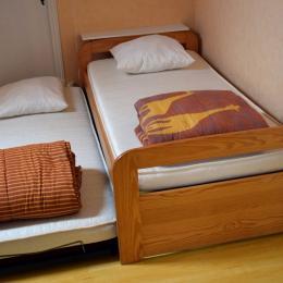 2ème chambre, lits gigognes  - Location de vacances - Pouilly-sur-Loire