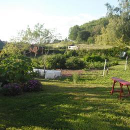 Jardin du gîte - Location de vacances - Blismes
