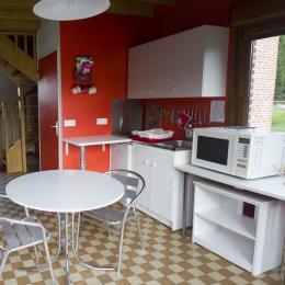 cuisine aménagée avec kitchenette et four multi fonction  - Location de vacances - Holque