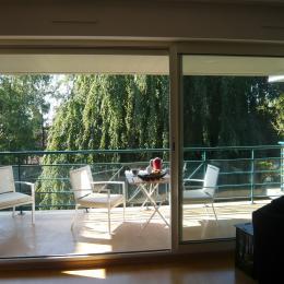 une terrasse plein sud face à des arbres centenaires - Location de vacances - Lille
