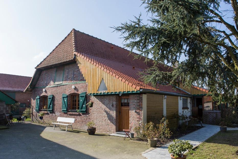 Vue aérienne de la ferme - Location de vacances - Hazebrouck