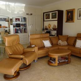 La pièce à vivre salon/séjour - Location de vacances - Villefranche-sur-Mer