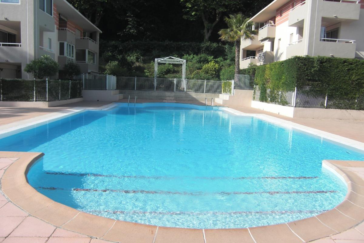 Une des plus grandes piscines résidentielles de la région (18 mètres de long, 10 mètres de large) - Location de vacances - Cagnes-sur-Mer