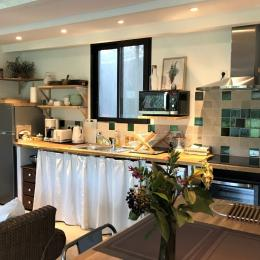 Pièce à vivre et cuisine - Location de vacances - La Roquette-sur-Siagne