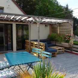 La terrasse - Chambre d'hôtes - Duvy