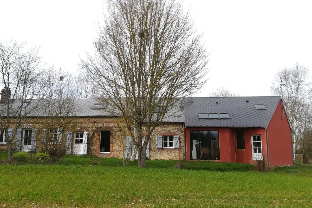 Longère normande avec extension moderne. - Chambre d'hôtes - Sainte-Gauburge-Sainte-Colombe