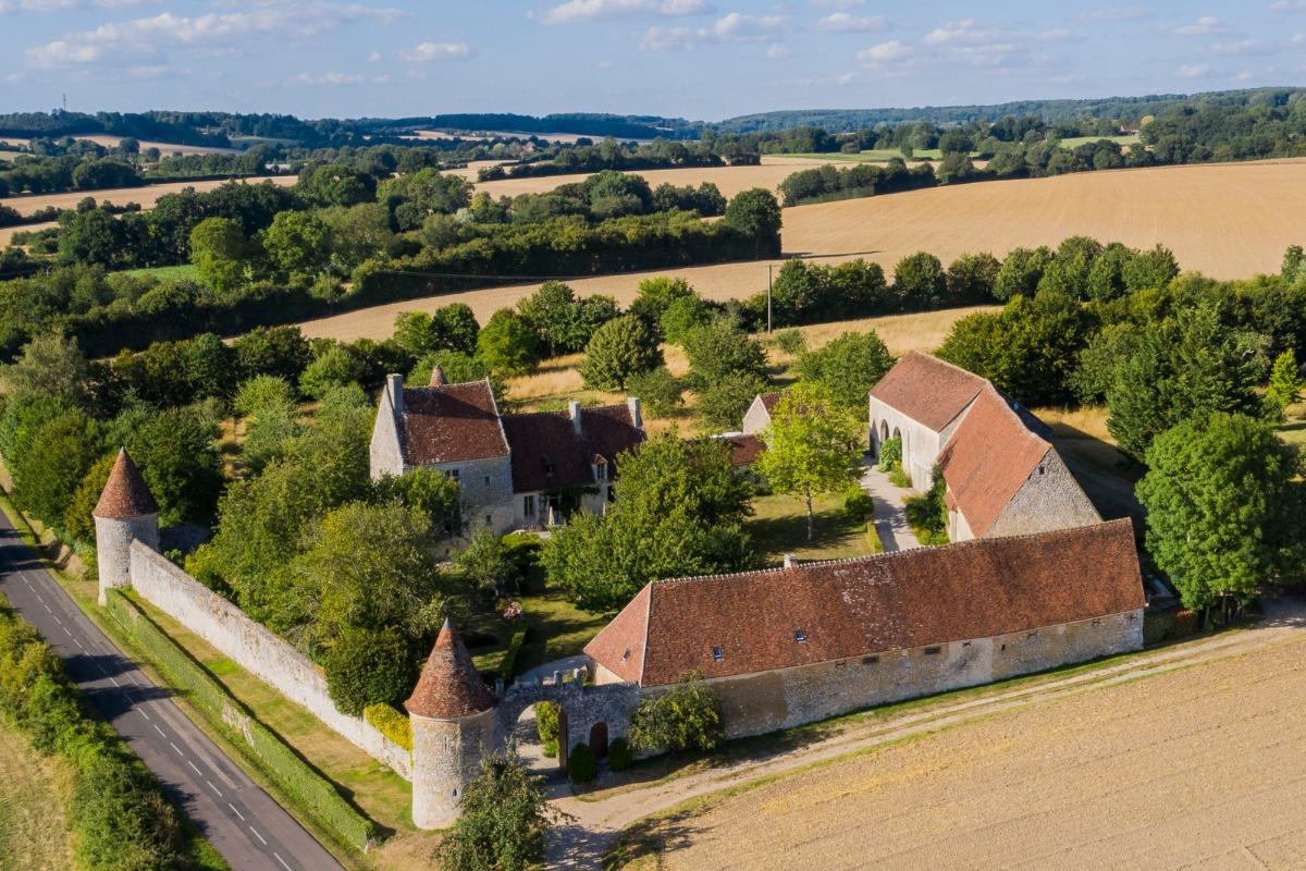Manoir de La Moussetière - Vue aérienne - Chambre d'hôtes - Boissy-Maugis
