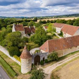 Manoir de La Moussetière - Vue aérienne - Location de vacances - Cour-Maugis sur Huisne