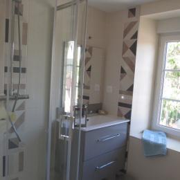 salle de bain 1er étage - Location de vacances - La Lande-Saint-Siméon