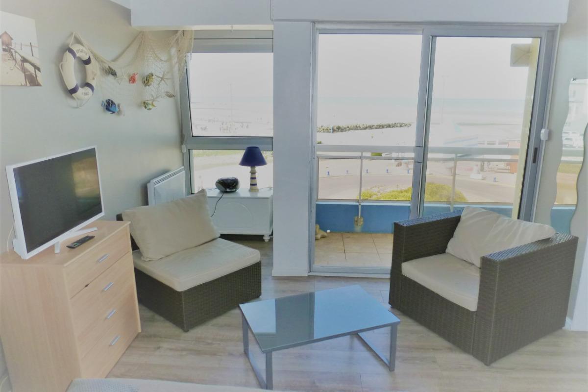 Salon - Vue mer - Location de vacances - Wimereux