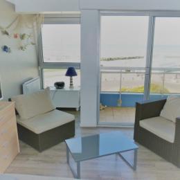 Salon vue sur la mer - Location de vacances - Wimereux