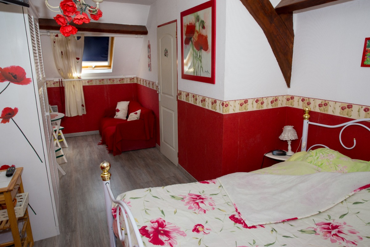 chambre coquelicot - Chambre d'hôtes - Guînes