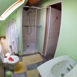 salle de bain coquelicot - Chambre d'hôtes - Guînes