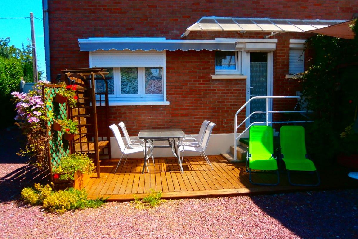 Terrasse , coin détente,  privés - Location de vacances - Hesdin
