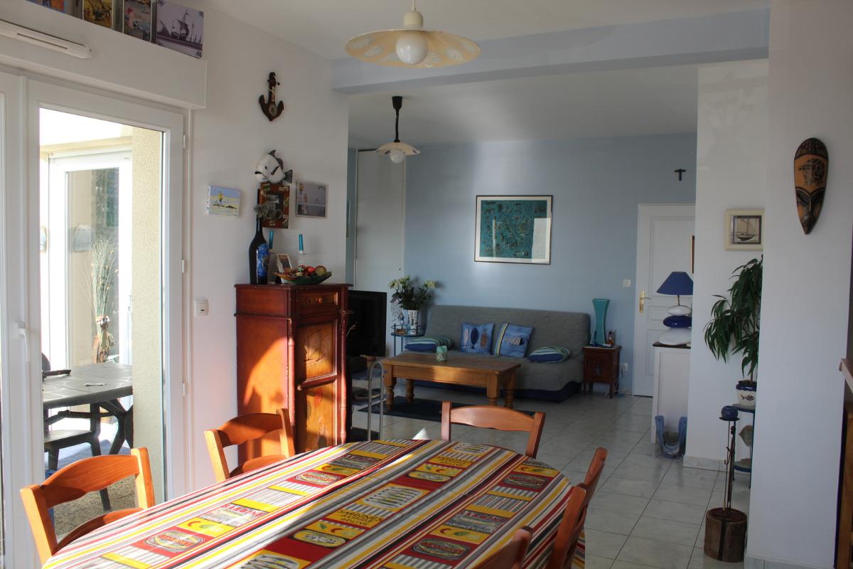 Séjour ouvert sur le salon - Location de vacances - Wimereux