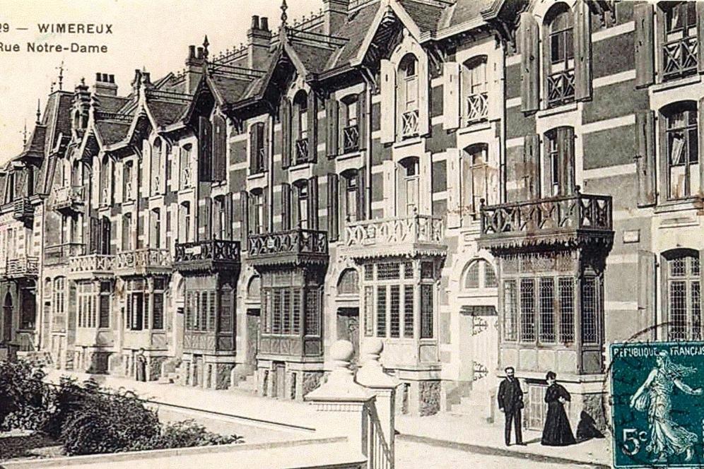 carte postale ancienne des villas - Location de vacances - Wimereux