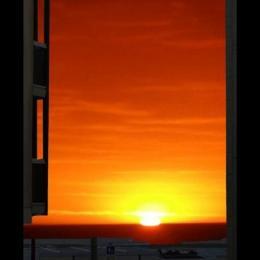 Coucher de soleil vu du salon - Location de vacances - Wimereux