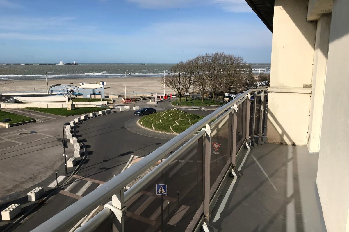 Vue du balcon - Location de vacances - Boulogne-sur-Mer