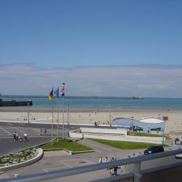 La Plage,  vue du balcon. - Location de vacances - Boulogne-sur-Mer