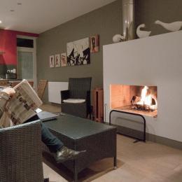 Le confort d'une cheminée à feu de bois - Location de vacances - Ambleteuse
