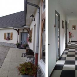 Couloir vers les 4 chambres - Location de vacances - Clenleu