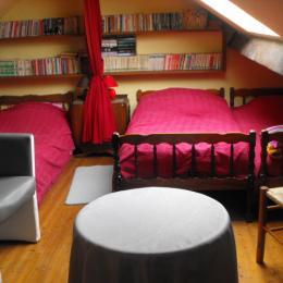 Chambre mezzanine à l'étage - Location de vacances - Saint-Georges