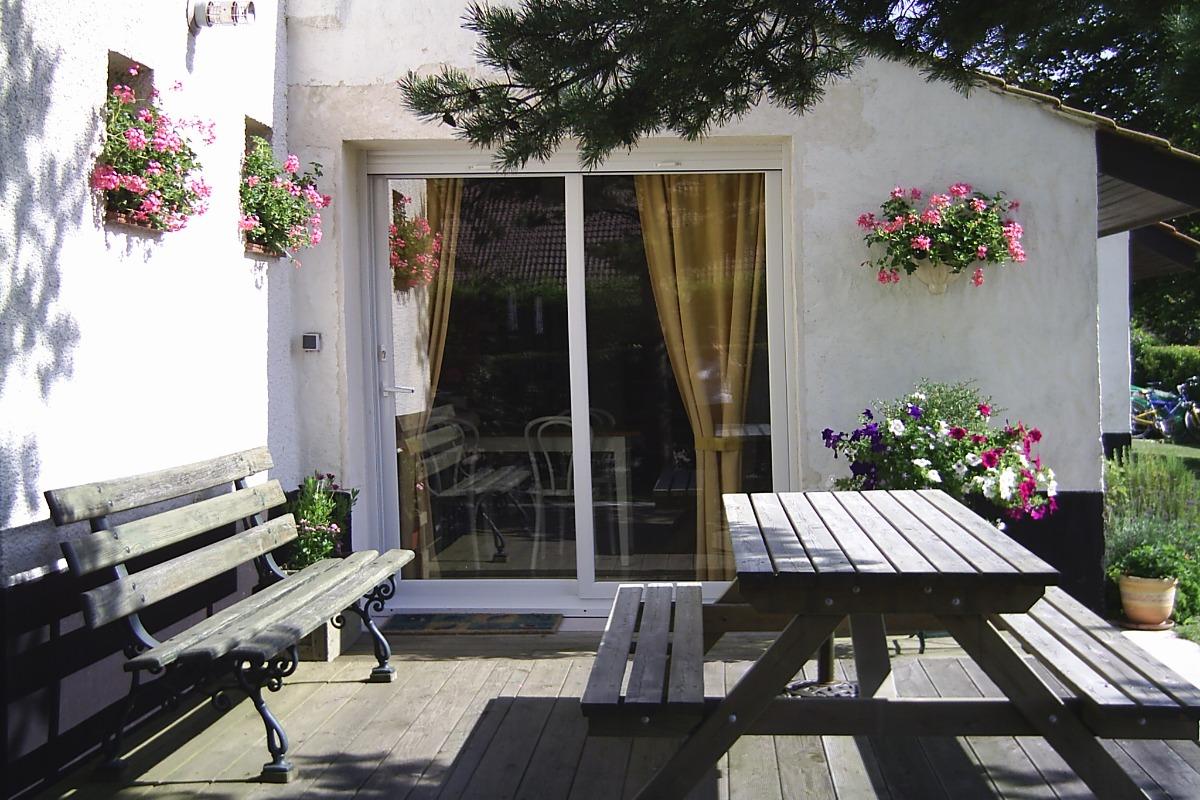 La terrasse - Location de vacances - Groffliers