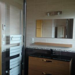 salle de bain avec douche à l'italienne au rez-de-chaussée - Location de vacances - Campagne-lès-Hesdin