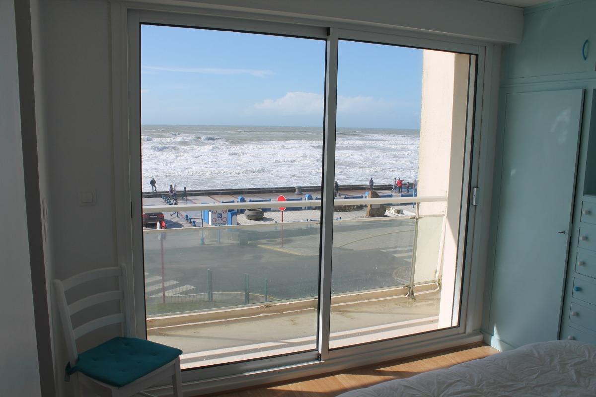 Chambre 1 : parentale vue mer - Location de vacances - Wimereux