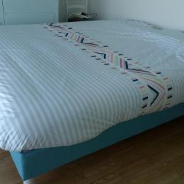 Chambre 1 : parentale, lit tempur 160X200 - Location de vacances - Wimereux