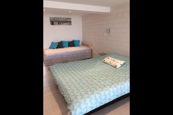 le lit double et le lit 1 personne - Chambre d'hôtes - Merlimont
