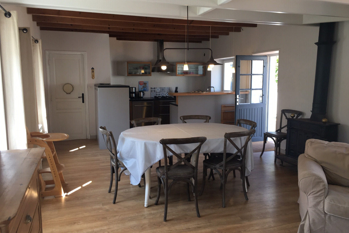 Salle à manger et Salon - Location de vacances - Wissant