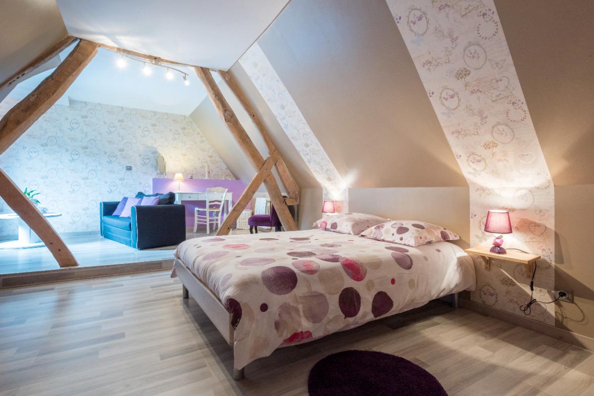 La chambre, vue d'ensemble - Chambre d'hôtes - Liettres